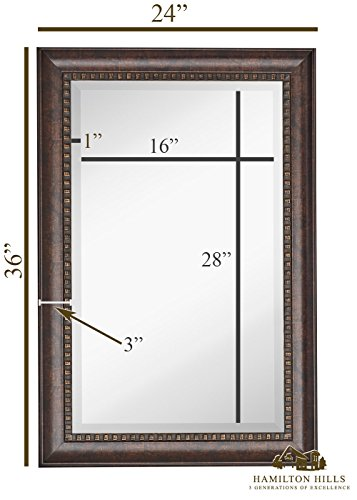 New large transitional rectangle wall mirror luxury - Large horizontal bathroom mirrors ...