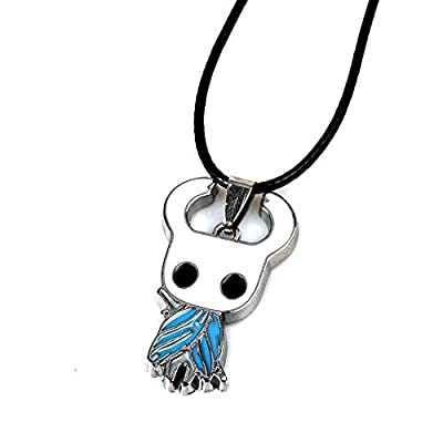 Moniku Hollow Knight Protagonist Necklace Alloy ACT Game Pendant Accessories (White): Clothing