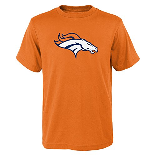 Outerstuff NFL Denver Broncos Boys Toddler Primary Logo Short Sleeve Tee, Orange, 3T