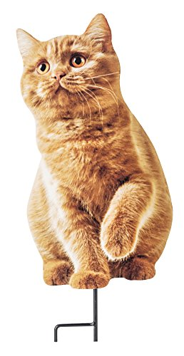 The Paragon Cat Garden Decor - Photo Realistic Metal Tabby Cutout for Yards, Planters, Lawns and Gardens