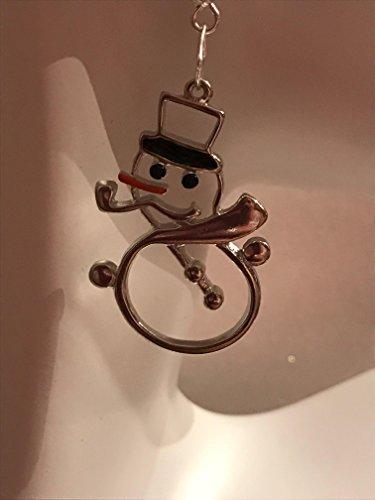 Silver Snowmen Earrings * Winter snowman * Winter Earrings * Whimsical Snowmen Jewelry * Classy Silver - Silver Snowmen