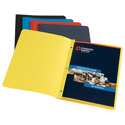 Panel and Border Report Covers, 8-1/2''x11'', Yellow, 25/Box CEB03604 by Corporate Express Brands