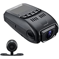 Kamo B80 Dual Capacitor Dual Dash Cam - 170° Wide Angle 6G Lens - 160°F Heat Resistant – Front Camera Full HD 1080P Car DVR w/ G-Sensor & Motion Detection – NT96655 + AR0330 – Rear Camera 480P