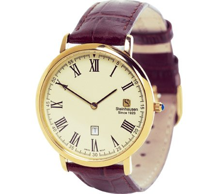 Thinnest Calendar Watch - Gold