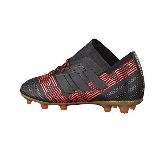 adidas Unisex-Kinder Nemeziz 17.1 Fg J Fußballschuhe Schwarz (Cblack/Cblack/Solred Cblack/Cblack/Solred)