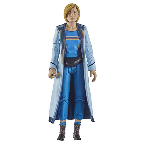 Doctor Who 13th Doctor Action Figure (Blue Top) Includes Sonic Screwdriver and Bag Accessories - Jodie Whittaker Doctor Who Merchandise - Character Options - 5.5""