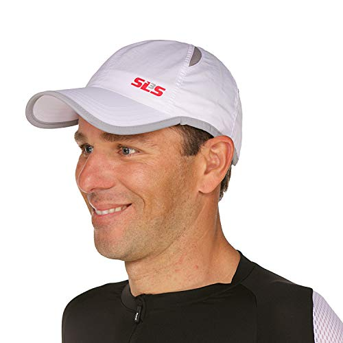 SLS3 Running Cap | Running Hat for Men | Running Caps for Men/Women | Jogging Hat | Sport Caps (White)