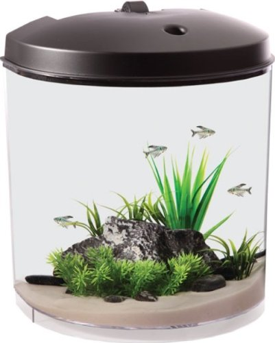 Hagen Goldfish Kit - Koller Products AquaTunes 3.5 Gallon Fish Aquarium Sleep Sound Machine, Pre-Recorded Natures Sound, MP3 Player and Speaker Included