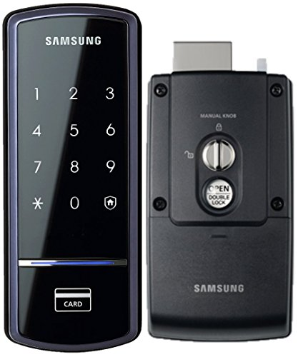 Samsung SHS-1321 Digital Door Lock, RIM Deadbolt, Touchscreen, Keyless (Latch Rim Exterior)