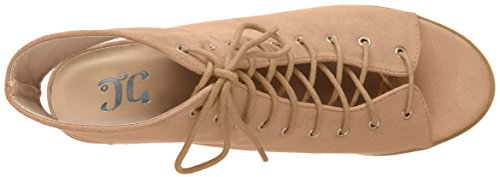 Brinley Co Women's Plum Ankle Boot Taupe huiqxWSUq