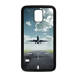Airplane Takeoff Design Unique Customized Hard Case Cover for SamSung Galaxy S5 I9600, Airplane Takeoff Galaxy S5 I9600 Cover Case