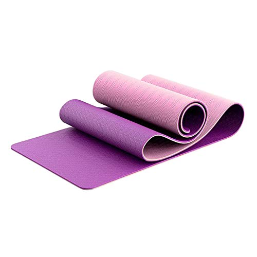 labworkauto Yoga Mat Exercise Fitness Mat Non Slip TPE for Yoga Pilates Floor Exercises