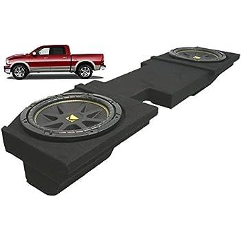 """2002-2012 Dodge Ram Quad Crew Cab Truck Dual 12/"""" Speaker Subwoofer Sub Box New"""