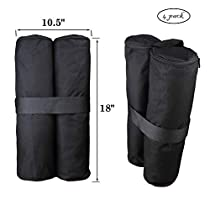 Goutime17-inch Weight Bag Shelter Pop Up Canopy Tent Gazebo Legs Outdoor,4-Pack