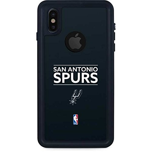 San Antonio Spurs iPhone X Case - San Antonio Spurs Standard - Black | NBA X Skinit Waterproof Case