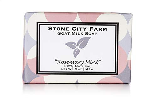 Rosemary Mint Goat Milk Soap - 100% Natural 5 oz. Bar