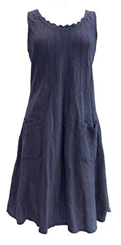 Linen Pintuck Dress - 5