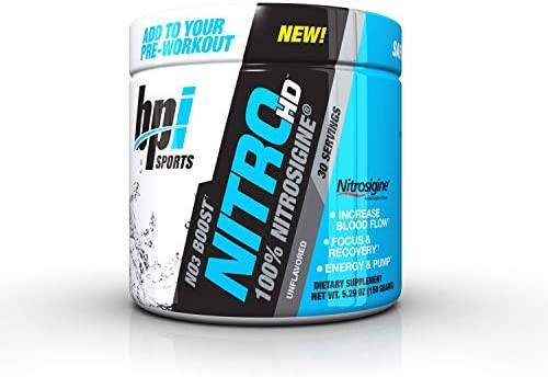 Nitro HD Nitrosigine PreWorkout Unflavored 30 Serving