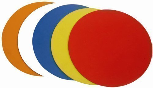 New Football Training Drills Agility Dots 9 Coloured Dot Markers Set Of 10 by OSG