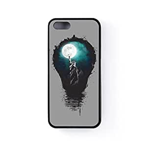 Big City Lights Black Silicon Case Rubber Case for Apple? iPhone 5 / 5s by Balazs Solti + FREE Crystal Clear Screen Protector