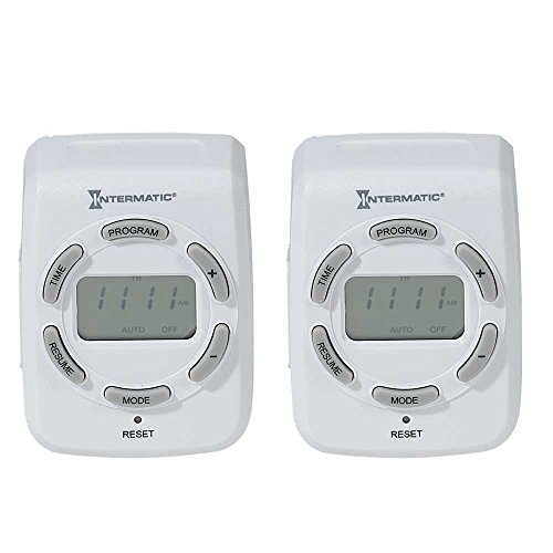 Intermatic DT121K-2PK 7-Day Digital Indoor Timers, 2-Pack