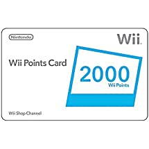 Wii 2000 Points Card