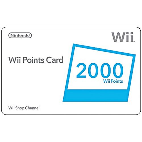 Wii Points Card Code - Wii 2000 Points Card