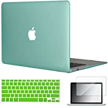 "Easygoby 3in1 Matte Frosted Silky-Smooth Soft-Touch Hard Shell Case Cover for 13-inch MacBook Air 13.3"" (Model:A1369 / A1466) + Keyboard Cover + Screen Protector - Green"