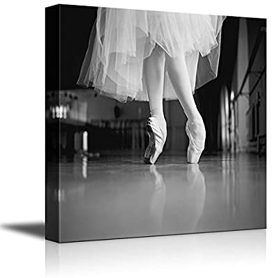 Canvas Prints Wall Art - Feet of The Ballerina | Modern Wall Decor/Home Decoration Stretched Gallery Canvas Wrap Giclee Print. Ready to Hang - 24