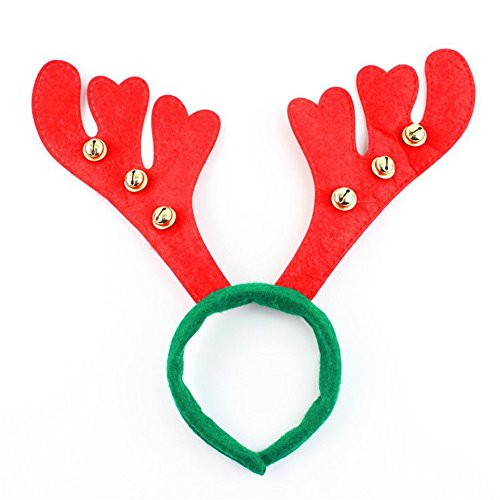 Make Deer Antlers Costume (Reindeer Antlers Headbands,Christmas and Holiday Party Headwear with Jingle Bells for Adults and Kids)