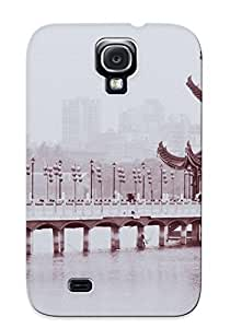 Galaxy S4 Case Cover - Slim Fit Tpu Protector Shock Absorbent Case (chinese Monochrome)