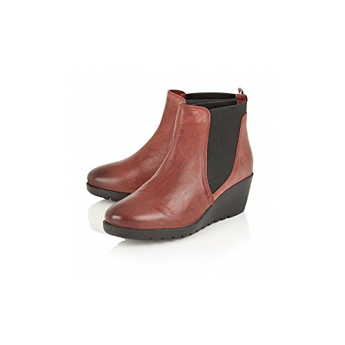 Boots MERYL Chelsea LOTUS Leather Red Ankle Red Boots Casual C0zSTqw