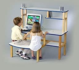 Wild Zoo B/D wht/yel-wz Grade School Buddy Kids Desk