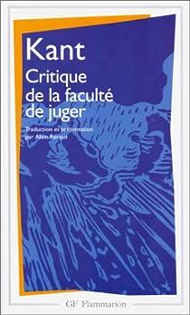 Critique de la faculté de juger par Kant