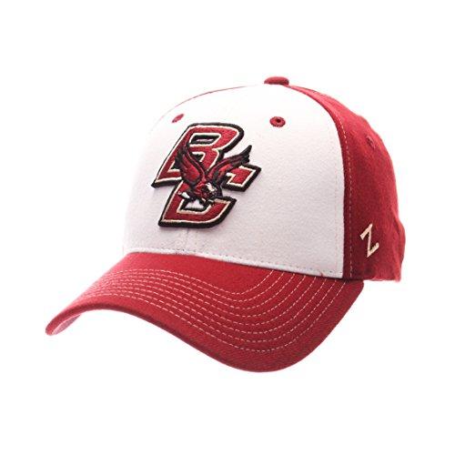 NCAA Boston College Eagles Adult Men Bleacher Z-Fit Hat,X-Large,White/Tc