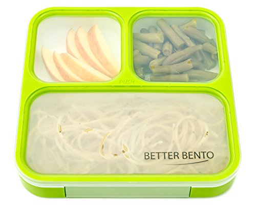better bento lunch box great for school portion control and meal prep green buy online in. Black Bedroom Furniture Sets. Home Design Ideas