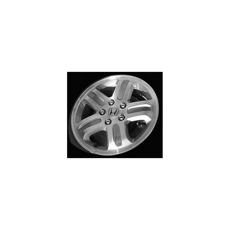 03 04 HONDA PILOT ALLOY WHEEL RIM 16 INCH SUV, Diameter 16, Width 6.5 (5 SPOKE), Topy manufacture, BRIGHT SILVER, 1 Piece Only, Remanufactured (2003 03 2004 04) ALY63849U20