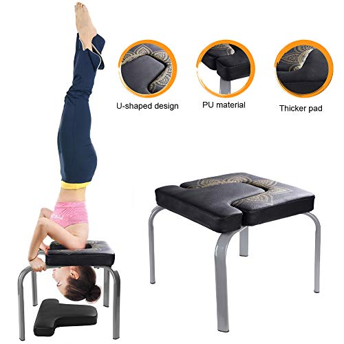(Scool Yoga Headstand Bench Yoga Inversion Chair Great for Workout, Fitness and Gym)