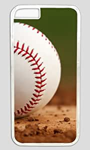 Baseball At The Training Ground DIY Hard Shell Transparent iphone 5c Case Perfect By Custom Service