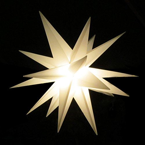 Großer 3D-Weihnachtsstern Ø 100 cm weiß Adventsstern beleuchtet wetterfest für außen Garten