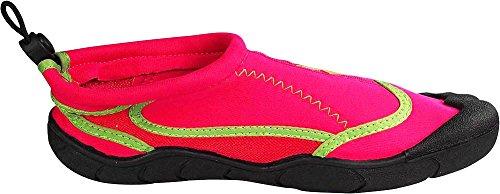 NORTY Womens Quick Drying Aqua Shoes Water Sports Shoes For Beach Pool Boating Swim Surf Fuchsia/Lime xkB9y0rWF