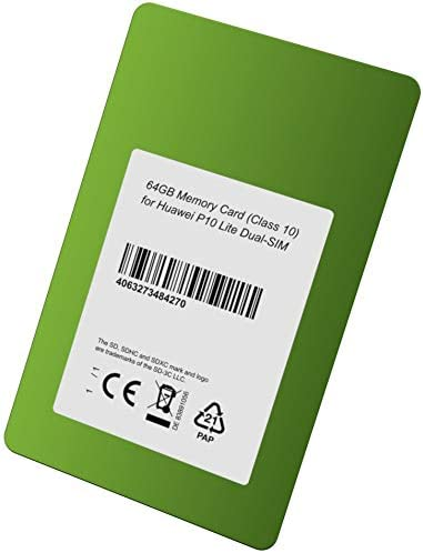 Clase 10 Tarjeta de Memoria de 64 GB para Huawei P10 Lite Dual-SIM