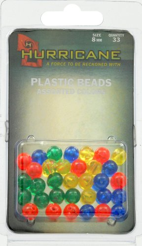 Hurricane Beads 8mm - Assorted Colors (33-Pack)