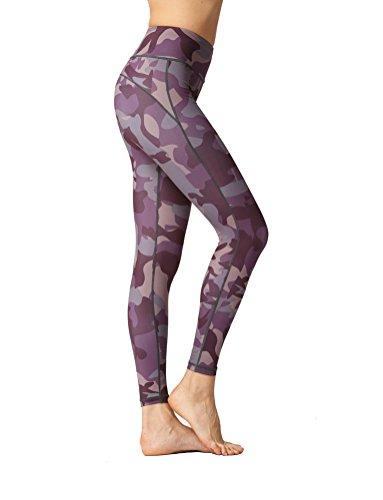 衣類寛解折り目High Waist Fitness Yoga Sport Pants Printed Stretch Point Leggings