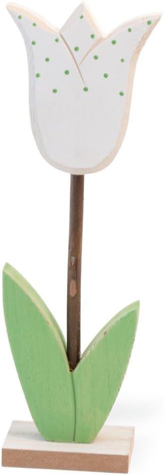 Celebrate the Home White Tulip Springtime Wooden Flower Decoration