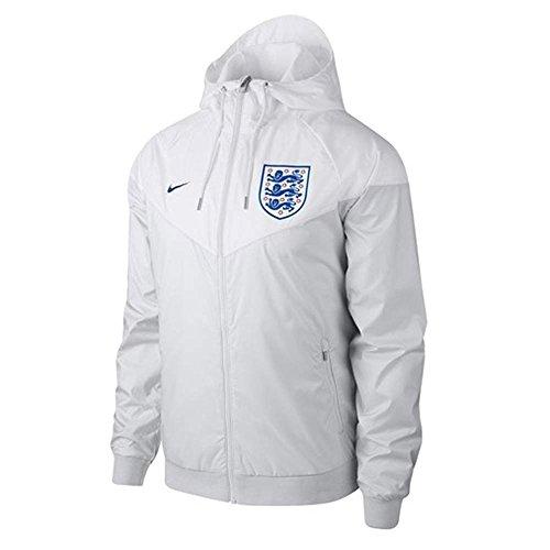 Soccer Jacket England (NIKE 2018-2019 England Authentic Woven Windrunner Jacket (White))