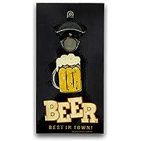 Abridor De Garrafas Parede Beer Mdf Com Imã 25x13 Cm