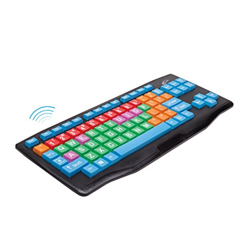 Califone KB3 Oversized Wireless Keyboard with Color Coded Keys ()