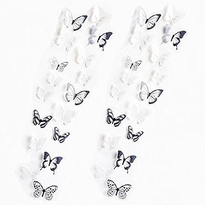 Pegatinas con Mariposas Blancas y Negras