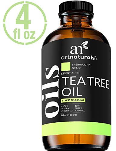 ArtNaturals Tea Tree Essential Oil 4oz - 100% Pure Oils Premium Melaleuca Therapeutic Grade Best for Acne